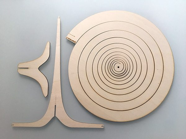 arbol de navida de spiral thingverse laser cut