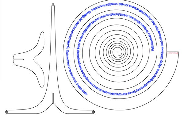 arbol de navida de spiral thingverse original