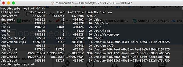 openmediavault external disk usb cli