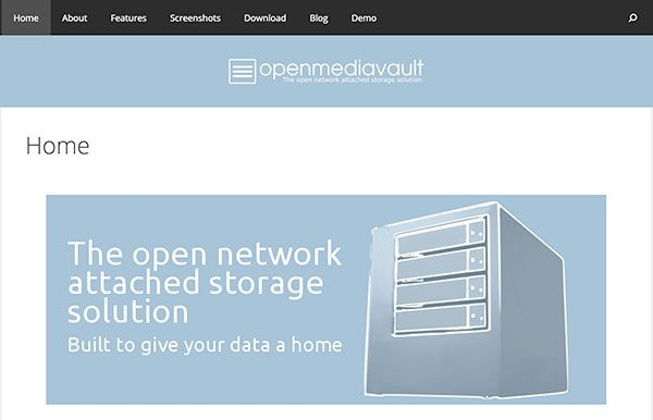 openmediavault homepage