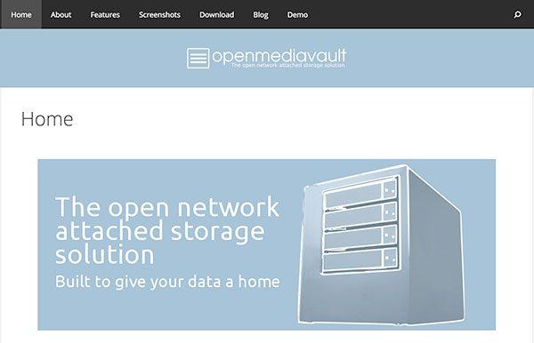 openmediavault homepage
