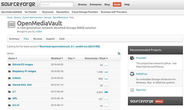 openmediavault sourceforge downlaod