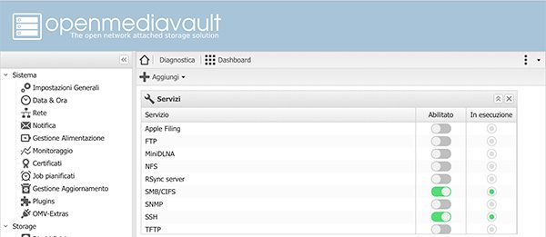 openmediavault Apple Filing plugin Time Machine installed