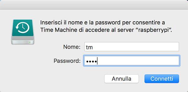 openmediavault Apple Filing plugin Time Machine login