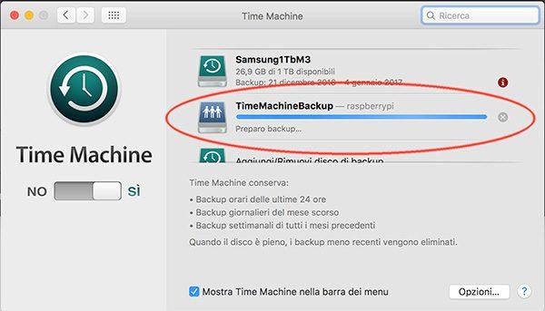 openmediavault Apple Filing plugin Time Machine disk define backup