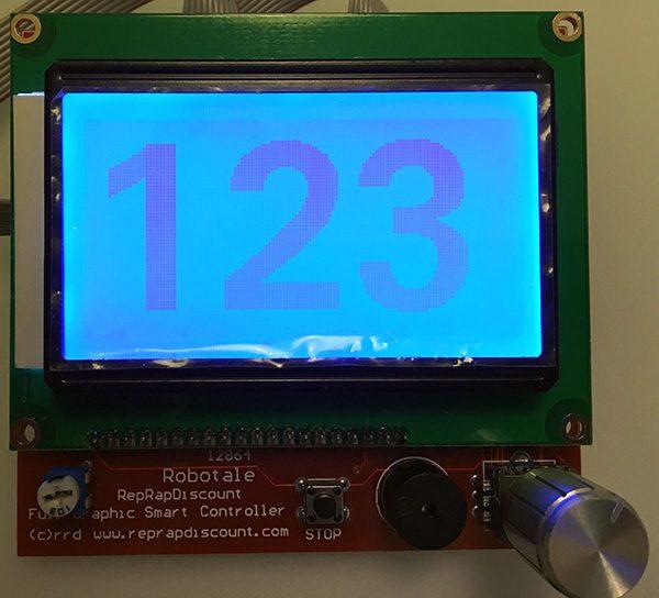 RepRap Full Graphic Controller Arduino Uno 123
