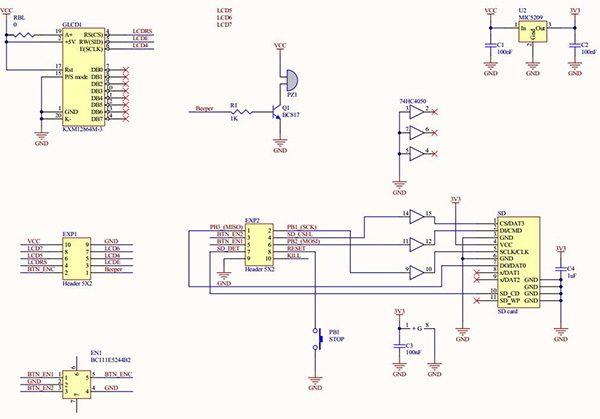 RepRap Full Graphic Controller with Arduino Uno schema