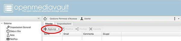 openmediavault add user