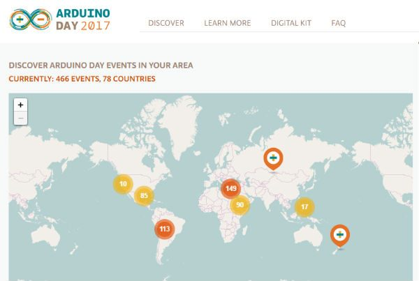 Arduino Day 2017 maps