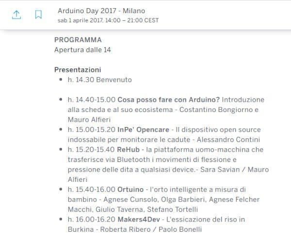 Arduino day presentazioni 1