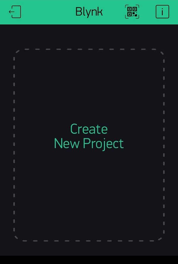 Blynk how to create first project