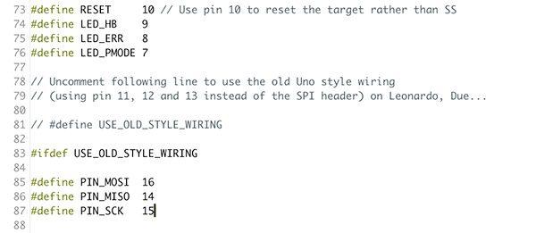 attiny85 attiny84 programmer pro micro arduino as isp modify