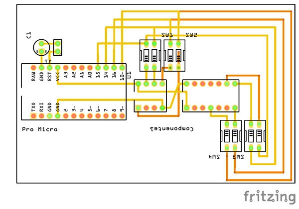 attiny85 attiny84 programmer pro micro fritzing pcb