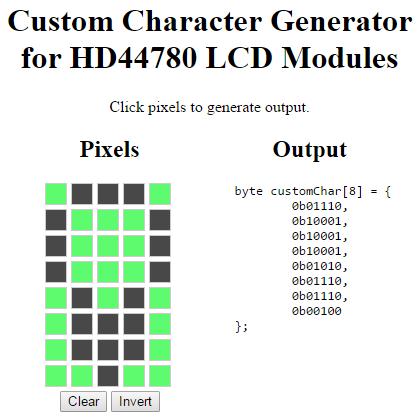 Custom Character Generator light