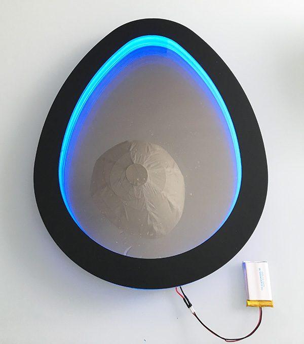 Easter egg infinity mirror attiny85 neopixel power