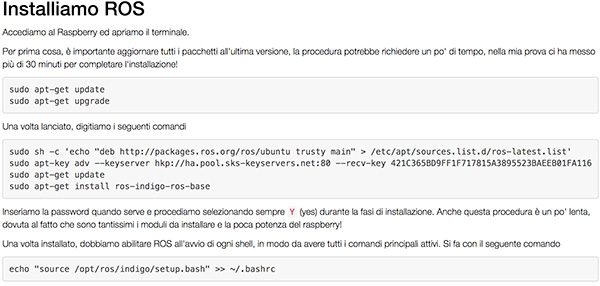 Install ROS on RaspBian - Mauro Alfieri Elettronica Domotica
