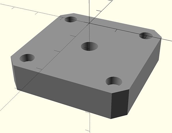 adaptive gripper 3D printed nema mount block