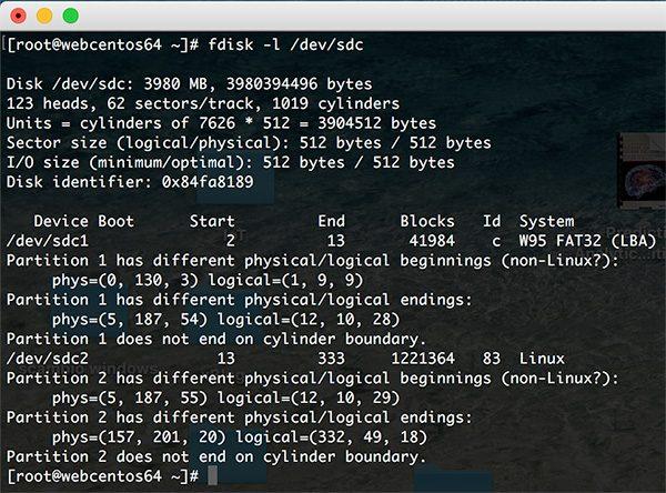 Rpi Zero W Wifi list fdisk