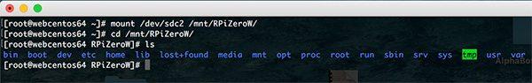 Rpi Zero W Wifi cd mount point