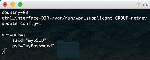 Rpi Zero W Wifi add network in wpa_supplicant