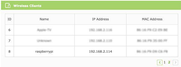Rpi Zero W Wifi router list network