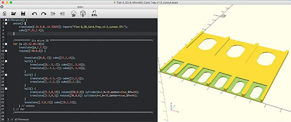 Flat Micro SD Holder code
