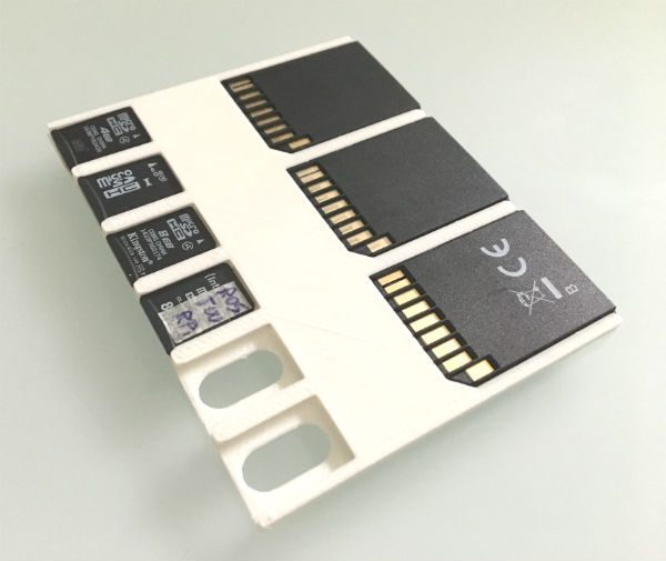Flat Micro SD Holder