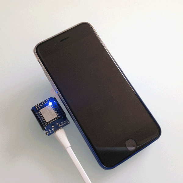 WeMos WifiManager connected iphone