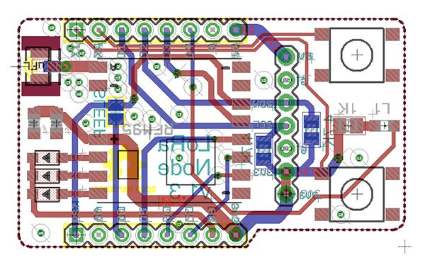 LoRa Node v1.3 pcb eagle