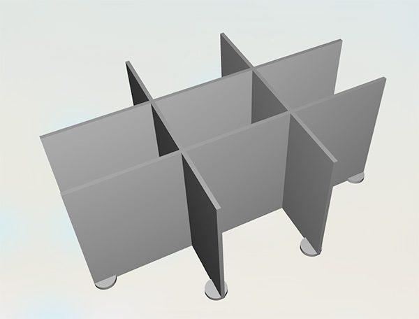 Parametric separator 2v20 stl