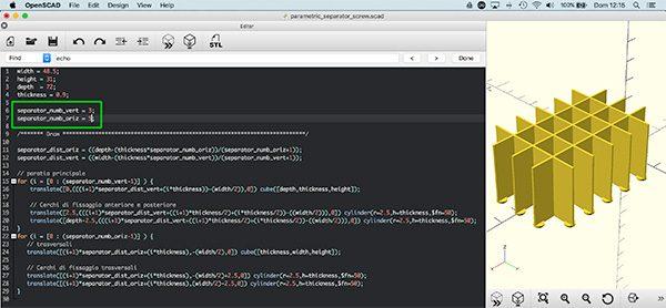 Parametric separator 3v5o code