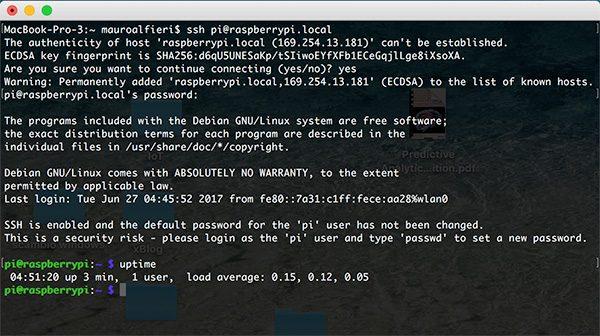 RPi Zero SSHd Usb OTG uptime