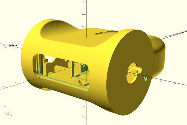 ZeroBot RPi Zero W model front