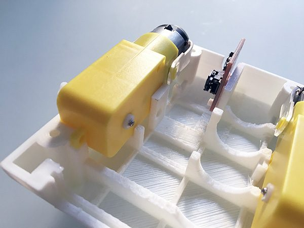 ZeroBot RPi gear motor mount