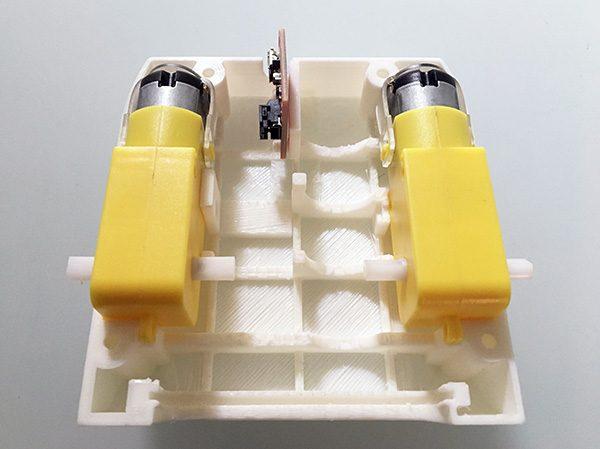 ZeroBot RPi gear motor mounted