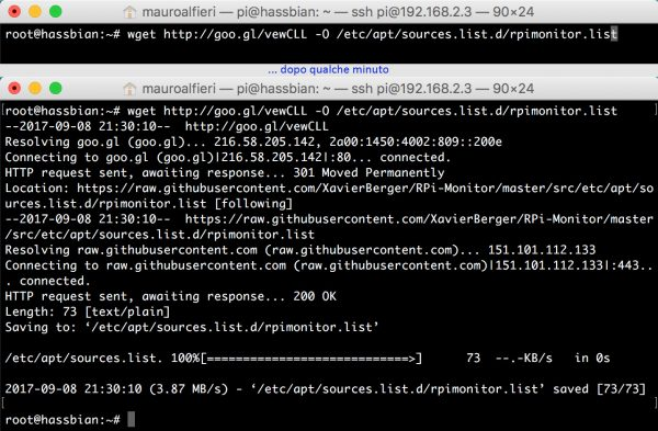 RPi Monitor install wget repositories