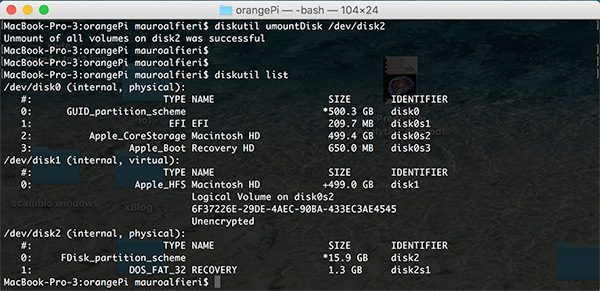 OrangePi install Debian umount disk