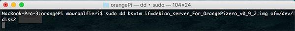 OrangePi install Debian dd command