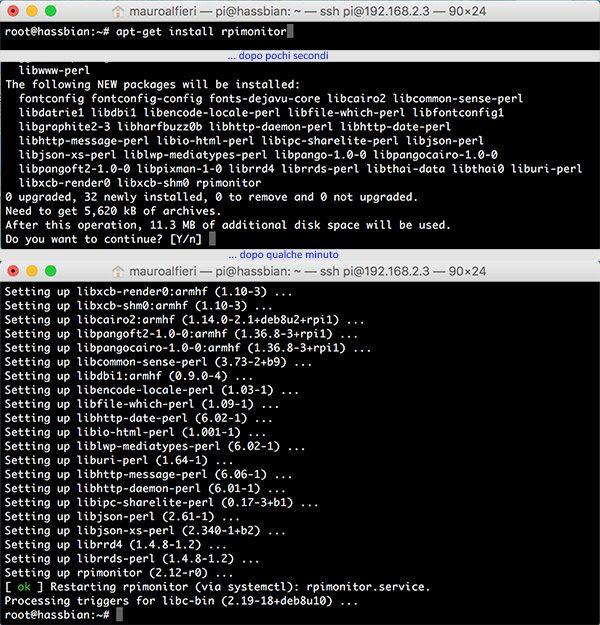 RPi Monitor install apt-get monitor