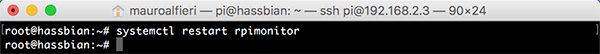 RPi Monitor install systemctl restart