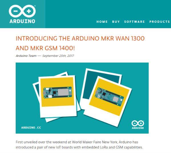 Arduino MKR WAN 1300 MKR GSM 1400