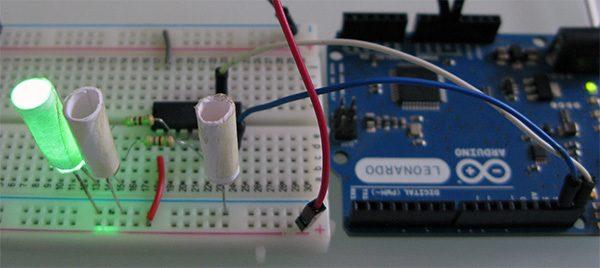 Attiny84 Arduino Led green