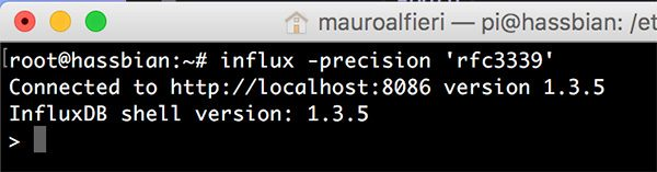 InfluxDB CLI connection precision rfc3339