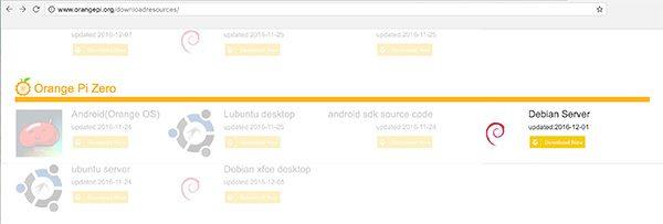 OrangePi install Debian download resource