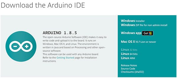 Arduino IDE 1.8.5 new ide download