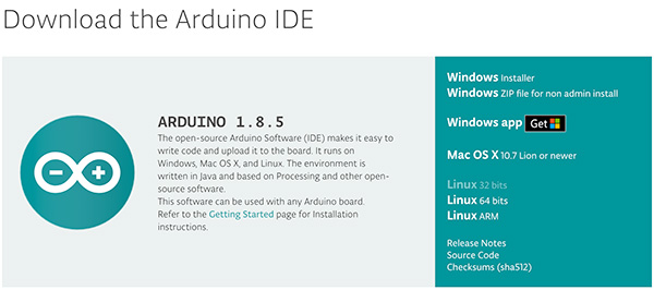 Download arduino 1.8.5