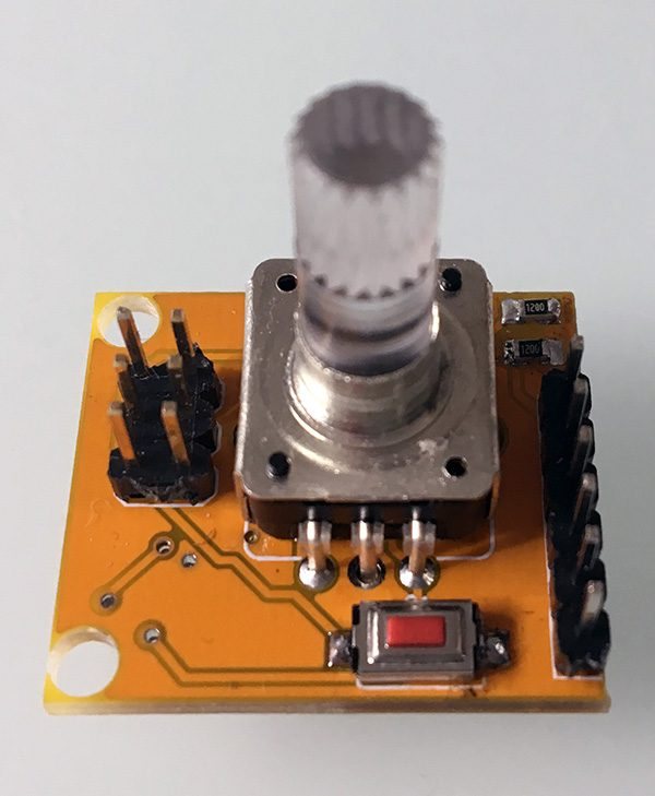 Attiny85 encoder pcb top mounted