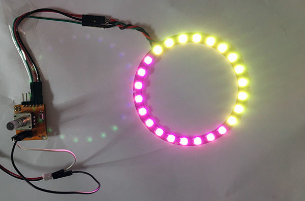 Rotary encoder attiny85 neopixel color wheel