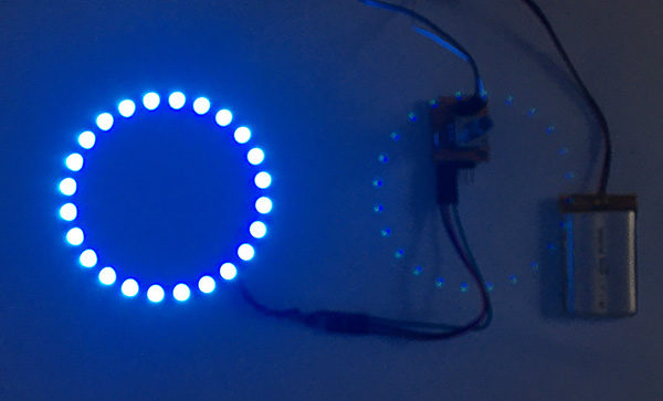 Rotary encoder attiny85 neopixel light on