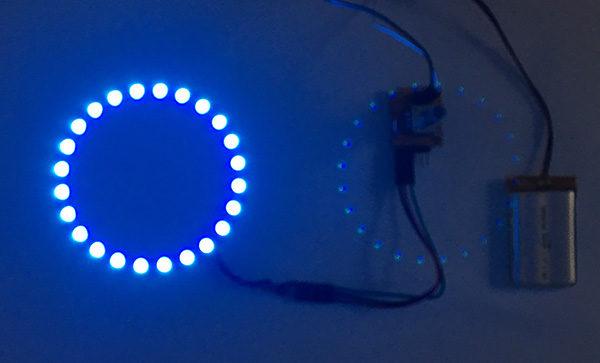 Rotary encoder attiny85 neopixel light on